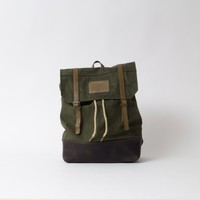Khaki Double Strap Backpack - WINTER SALE