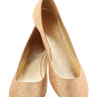 ModCloth Luxe Real Go-Glitter Flat