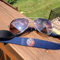 Monogrammed Sunglass Strap - Great for Your Eyeglasses Too