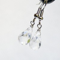 Crystal drop swarovski earrings