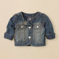 newborn - girls - denim jacket | Children's Clothing | Kids Clothes | The Children's Place