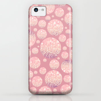 Blushing Bokeh Dots iPhone & iPod Case by Lisa Argyropoulos