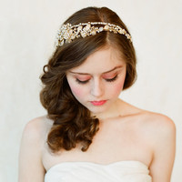 Double band golden tiara - Style #147 | Headbands | Twigs & Honey?, LLC