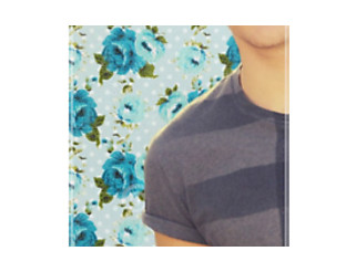 Louis Tomlinson Blue Floral iPhone Case