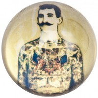 TATTOOED MAN GLASS PAPERWEIGHT - Housewares