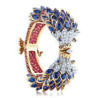 Tiffany & Co. - Tiffany & Co. Schlumberger® fish bracelet of diamonds and gemstones.