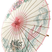Tattooed Mermaid Pin-Up Parasol - PLASTICLAND
