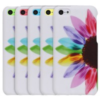 Fosmon MATT Series Rubberized Design Case for Apple iPhone 5C (Colorful Sunflower)