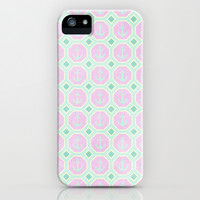 Anchors - Radiant Orchid & Mint  iPhone & iPod Case by alterEGO