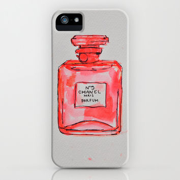 perfume red iPhone & iPod Case by watercolor & ink