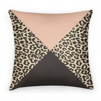 Leopard Triangle Pillow