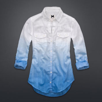 Dip-Dye Cotton Shirt