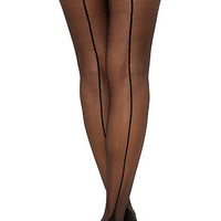 The Cuban Heel Tights in Black