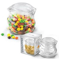 Unzipped Fun Novelty Glass Bag-Shaped Storage Container, Fun & Unique Gifts