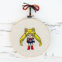Sailor Moon Senshi Embroidery | 6 Inch Hoop | Fandom Home Decor