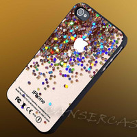 Apple Logo Sparkle Glitter - iPhone 4/4s/5c/5s/5 Case - Samsung Galaxy S3/S4 Case - Black or White