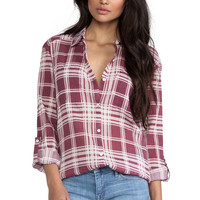 Soft Joie Lieutenant Top in Burgundy