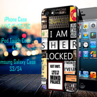 A bunch of Sherlock Samsung Galaxy S3/ S4 case, iPhone 4/4S / 5/ 5s/ 5c case, iPod Touch 4 / 5 case