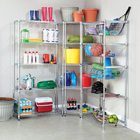 5-Tier Commercial Wire Shelving Unit - 350 Lb Shelf Capacity