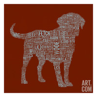 Dog Type 1C Giclee Print by Stella Bradley at Art.com