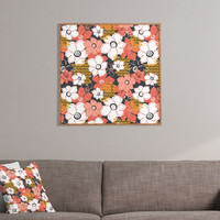 Heather Dutton Petals And Pods Lava Framed Wall Art