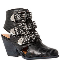 The Tripper Bootie in Black and Silver