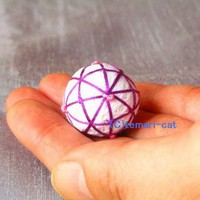 Miniature Temari-ball 8-Division of Japan.SMALL | temari-cat - Needlecraft on ArtFire