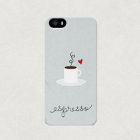 Love Espresso Coffee iPhone 4 4s 5 5s 5c Case