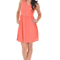 Closet Candy Boutique · Like A Skyscraper Dress - Coral