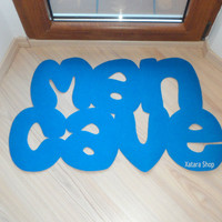 Man Cave floor mat. Home decor for him. Doormat for men.