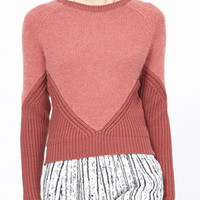 Totokaelo - Carven Mixed Media Pullover - $298.00