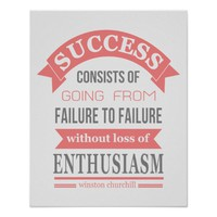Winston Churchill quote success failure enthusiasm