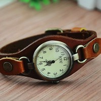 Unique Handmade Double Ring Watch with Belt 074 DP0119