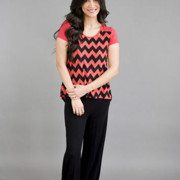 Chevron High Low Top Red
