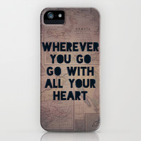 Go With All Your Heart iPhone & iPod Case by Leah Flores