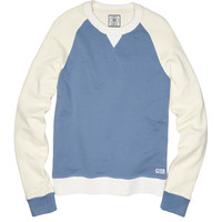 Vintage Fleece 2 Tone Raglan- Denim Blue/Cream