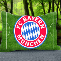 "FCB Bayern Munchen Football Logo Custom Pillow Case 30"" x 20"""