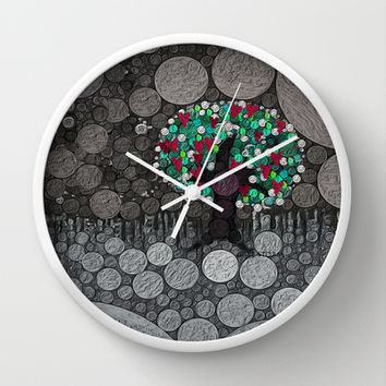 :: Tree of Hearts :: Wall Clock by GaleStorm Artworks