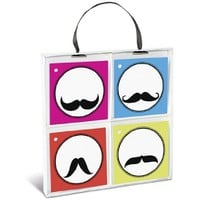 Graphique De France Mustache Gift Tag