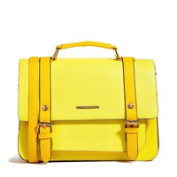 River Island Yellow Oversized Satchel