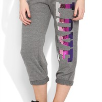 Rolled Sweatpants With Ombre Sequin Love Screen