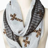 TWO SIDE CROSS ETERNITY SCARF