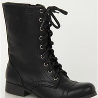 Mid Height Lace Up Combat Boot