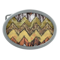 Chevron Safari Belt Buckle
