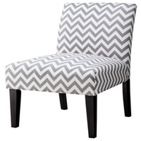 Avington Armless Slipper Chair - Gray Chevron