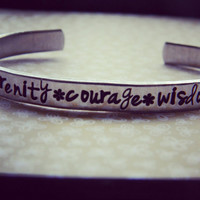 Serenity, Courage and Wisdom serenity prayer bracelet