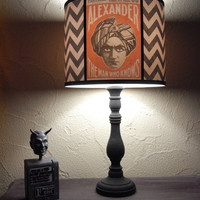 Psychic Reading chevron lamp shade lampshade - lighting, boho, bohemian decor, Alexander,The man who knows, magician, fortune teller, spooky