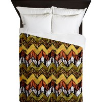 Chevron Safari Queen Duvet