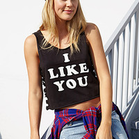 I Like You Crop Top