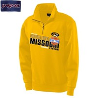 The Mizzou Store - AT&T Cotton Bowl Missouri Tigers 1/4 Zip Gold Sweatshirt